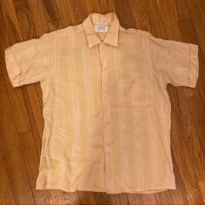 Vintage Yellow Button Up Shirt